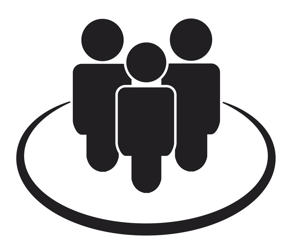 human resources icon on white background. flat style. office worker icon for your web site design, logo, app, UI. employess symbol. team sign. people symbol.