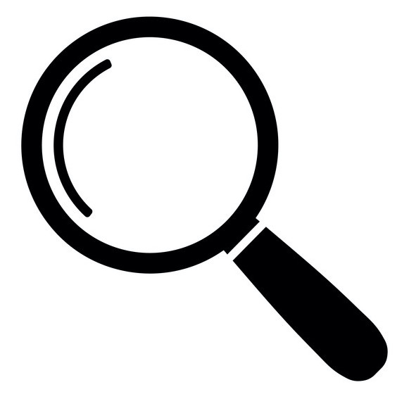 Magnify icon. Magnifying glass sign. Search icon