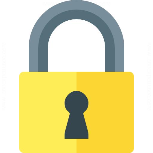 yellow-lock-symbol